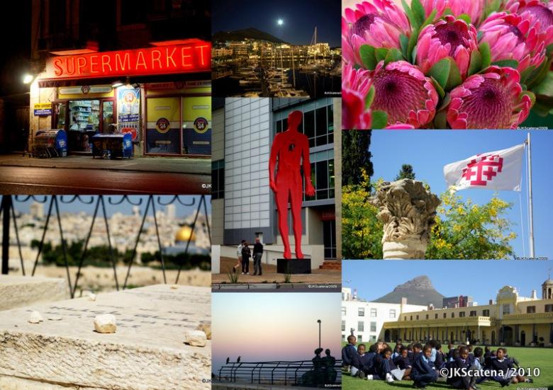 Mosaico Jerusalem e Cape Town