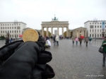 Berlim: Portão de Brandemburgo, a imagem do Euro alemão