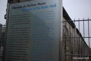 Um dos trechos restantes do Muro