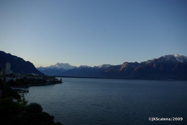 Amanhecer em Montreux