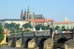 Vista do Castelo e da Ponte Karluv Most