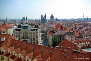 Vista de Praga da Torre Astronomica do Klementinum – Cidade Velha (Stare Mesto)
