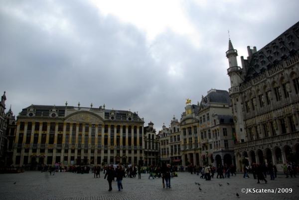 A bela praça principal de Bruxelas