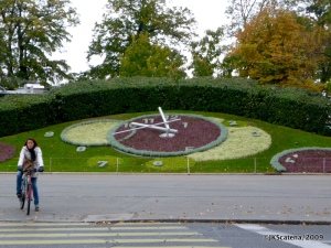 Genebra, vista do relógio floral