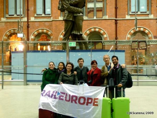 Grupo RailEurope na estação londrina de St.Pancras