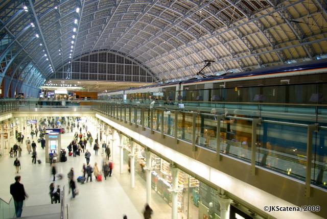 St. Pancras, a estação de Londres do Eurostar