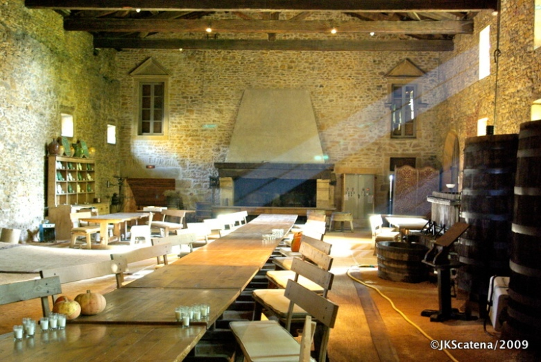 Um dos salões do Chateau de Bagnols.