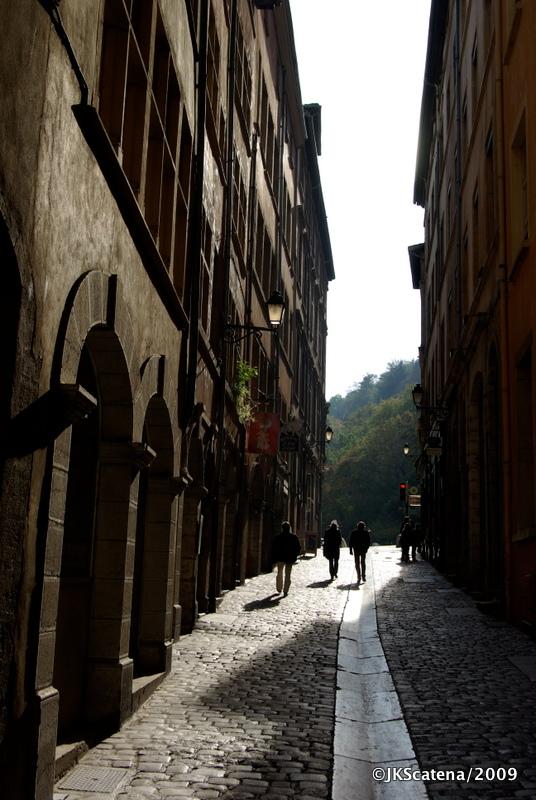 Rue du Bœuf, na Vieux Ville de Lyon