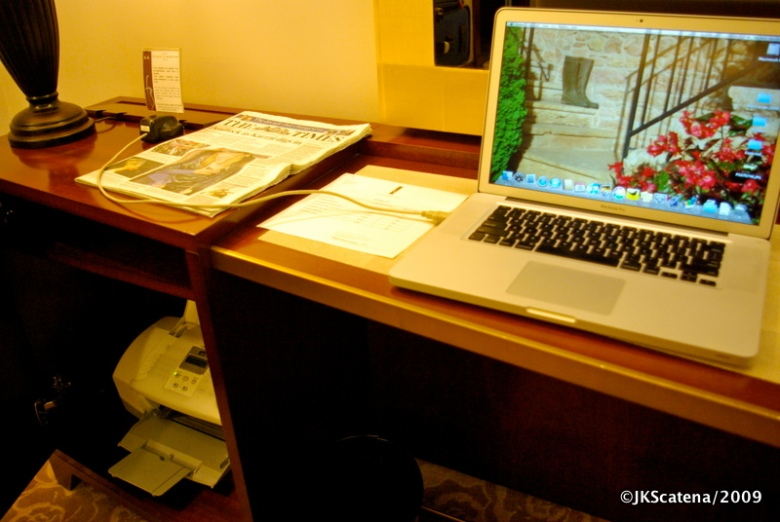 Impressora à disposição no quarto