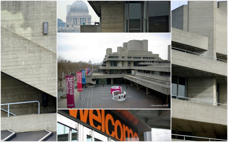 London's National Theatre: Collage