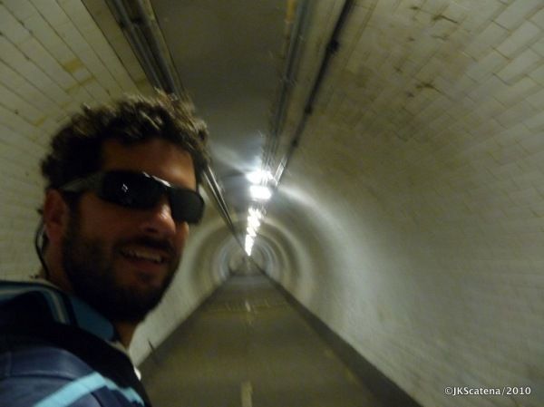 London: Pedestrian Tunnel below the Thames River