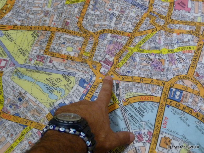 London: Stanfords Bookstore, Map