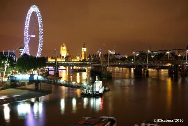 London: Waterloo Bridge view, with London Eye