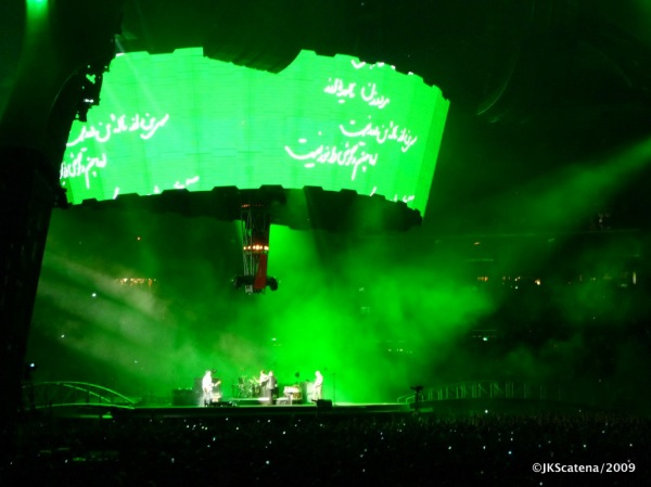 U2 @ Amsterdam: Green for Iran