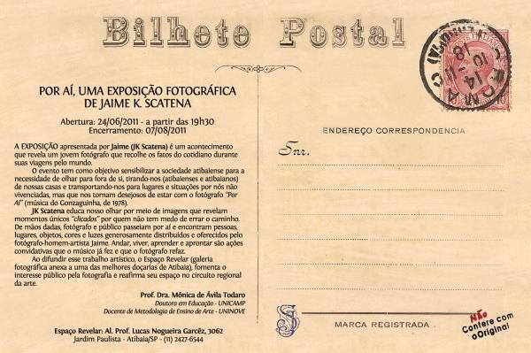 Por Aí - Postal, Verso