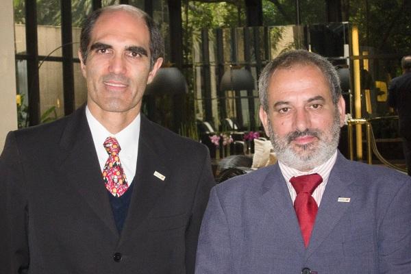 Paulo Machado e António Lacerda, no Workshop do Turismo de Alentejo em São Paulo