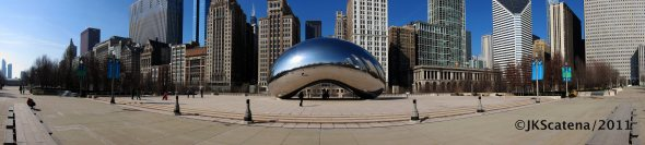 Chicago: Millenium Park panorama