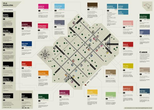 3ª Mostra SP de Fotografia: Mapa