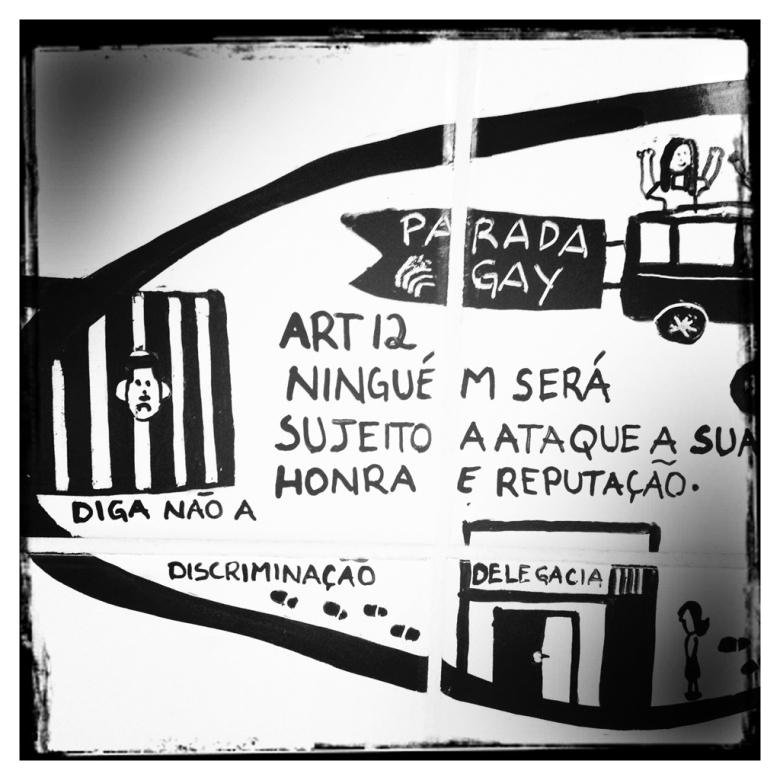 Painel sobre Direitos Humanos, Estação Luz do Metrô de São Paulo (detalhes)